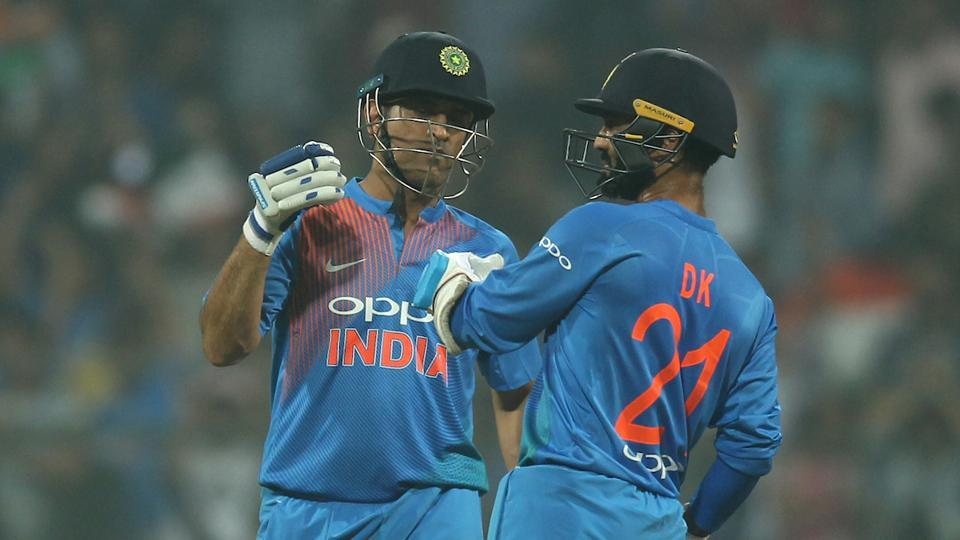Dhoni and Karthik